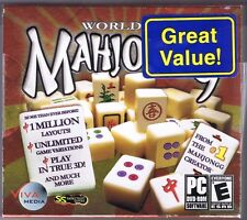 World of Mahjongg Jewel Case PC Game Sealed! New! Free USA Shipping!