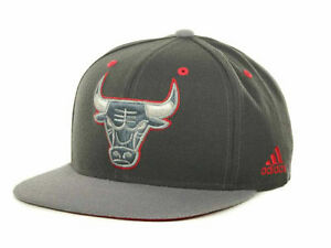 CHICAGO-BULLS-ADIDAS-NBA-GRAYSTONE-ADJUSTABLE-SNAPBACK-HAT-CAP-LID