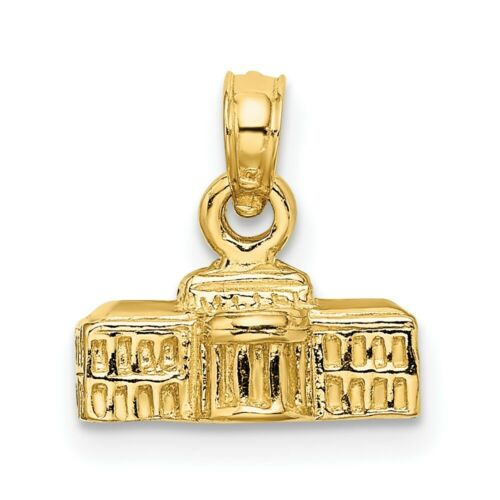 Details about  /Real 14kt Yellow Gold 3-D White House Pendant