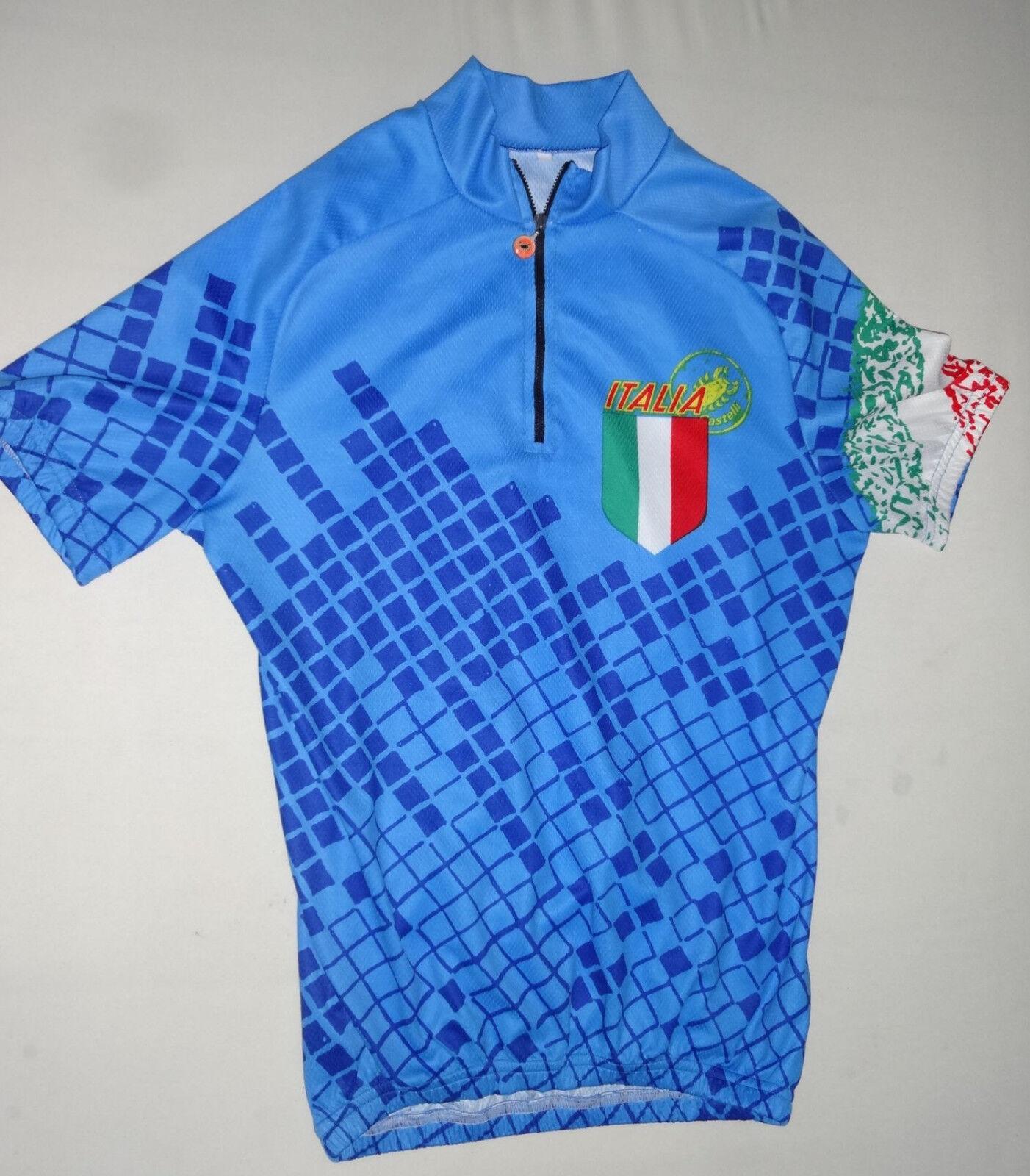 Castelli Italia Rennrad Fahrrad Mountainbike Trikot Gr. XXL in blue