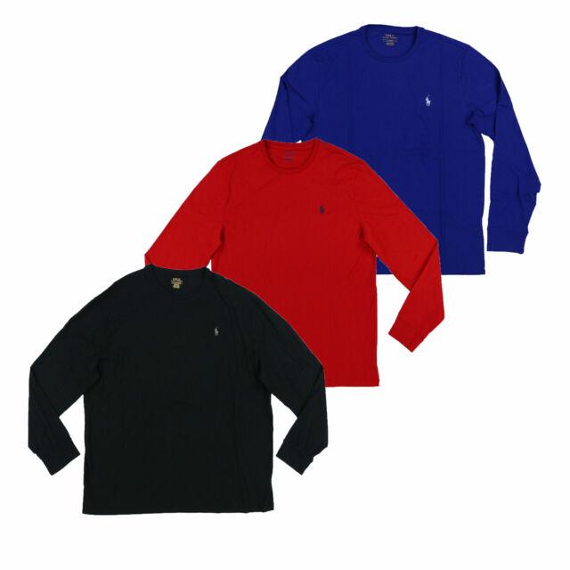 Polo Ralph Lauren Mens T-Shirt Long Sleeve Pony Logo Crew Neck Tee New M L Xl