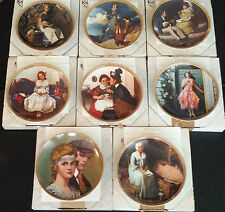 "LOT OF 8 NORMAN ROCKWELL'S ""REDISCOVERED WOMEN"" PLATES, WITH COAs, KNOWLES"