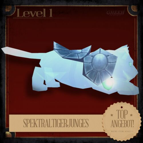 » SpektraltigerjungesSpectral Tiger Cub World of Warcraft TCG Haustier Pet «