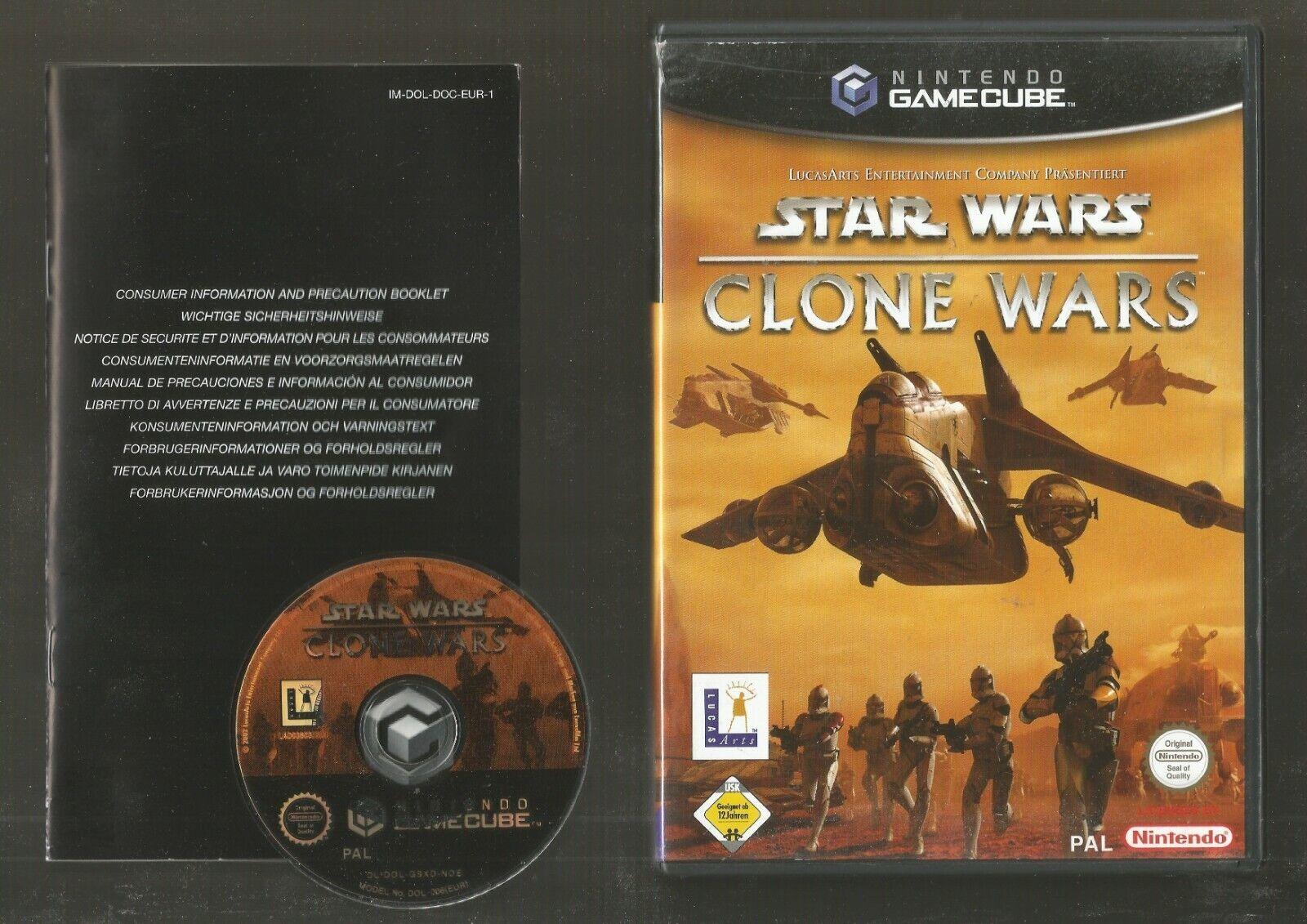 NINTENDO GAMECUBE - STAR WARS CLONE WARS - jeu StarWars