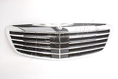 Für Mercedes W221 Kühlergrill mit DTR Chrom Schwarz AMG-LOOK ab Baujahr 2009