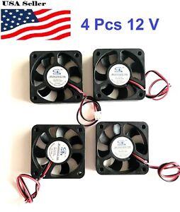 4-Pcs-5V-12V-24V-50mm-Cooling-Computer-Fan-5010-50x50x10mm-DC-3D-Printer-2-Pin