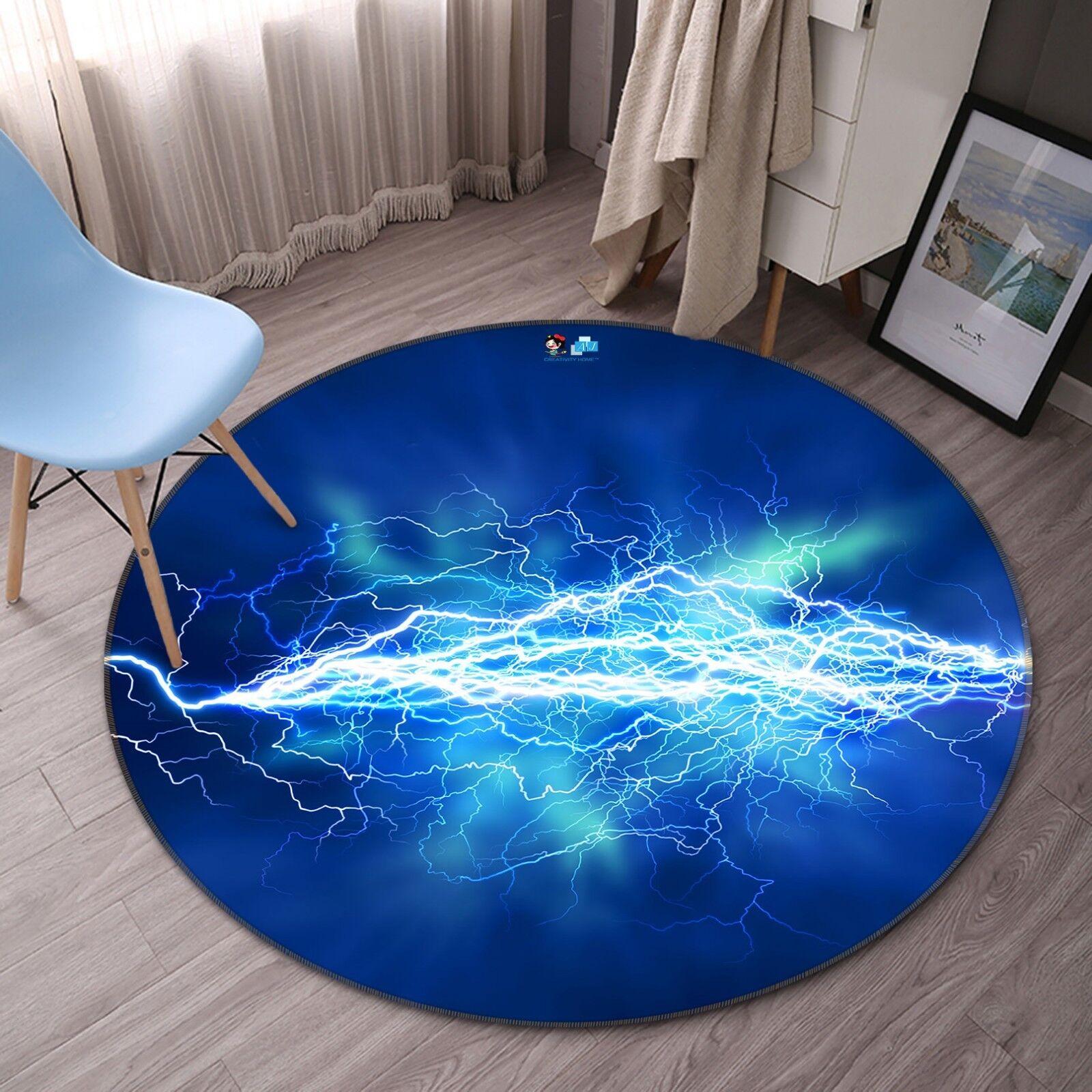 3D Lightning 588 tappetino antiscivolo tappeto camera Tappetino Tondo Qualità Elegante foto Tappeto UK