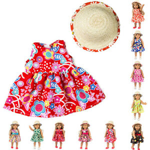 Fashion-Handmade-Doll-Clothes-Dress-Cap-For-18-inch-American-Girl-Doll-New-Born