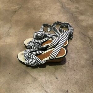 Sperry Womens Saylor Fabric Open Toe Casual Platform Sandals, stripe, Size 7.A
