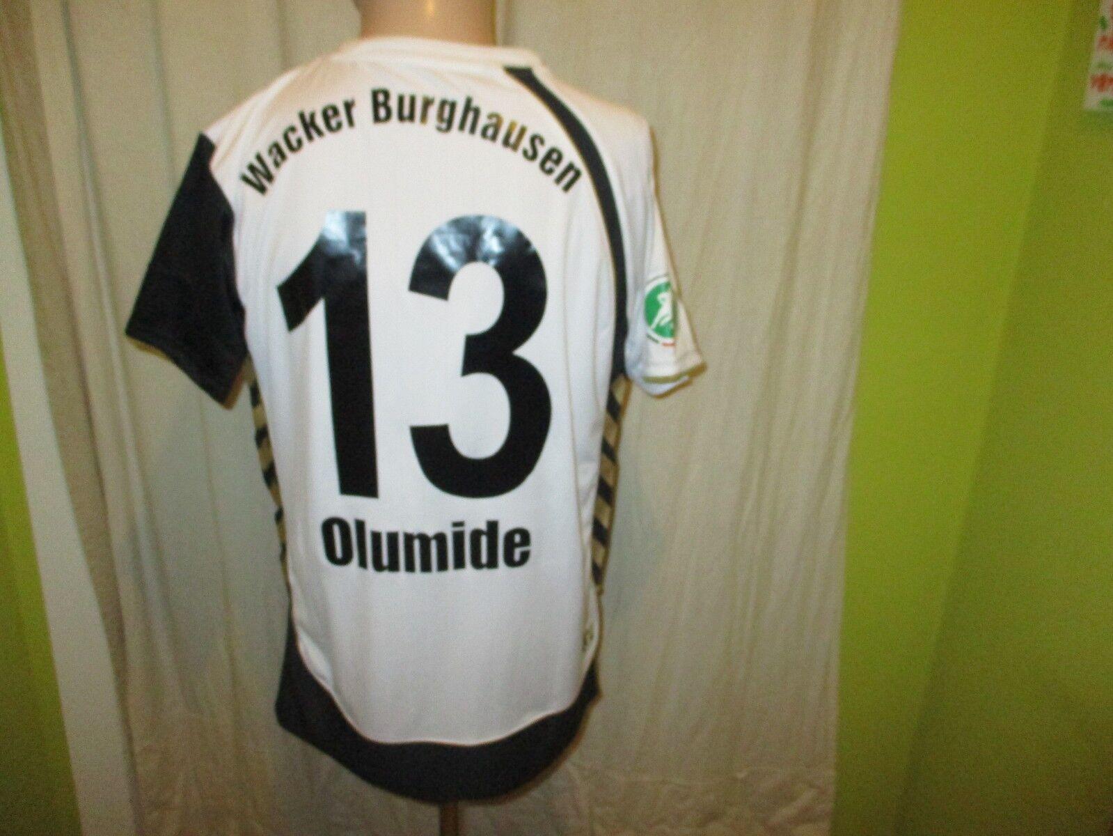 Wacker Burghausen hummel Heim Matchworn Trikot 2010 11 + Nr.13 Olumide Gr.M