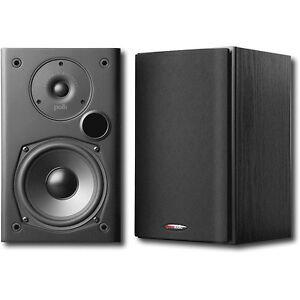 Polk-Audio-2-Way-Indoor-Bookshelf-Speaker-in-Black-Pair-T15