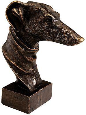 bronze greyhound Vintage greyhound small dog lover gift copper greyhound greyhound paperweight greyhound figure greyhound collectible