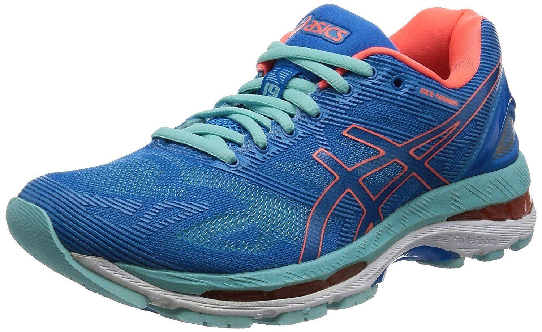 Zapatos De Entrenamiento Asics Lady Gel-Nimbus 19 TJG513 Azul Naranja US5 (22.5 Cm)