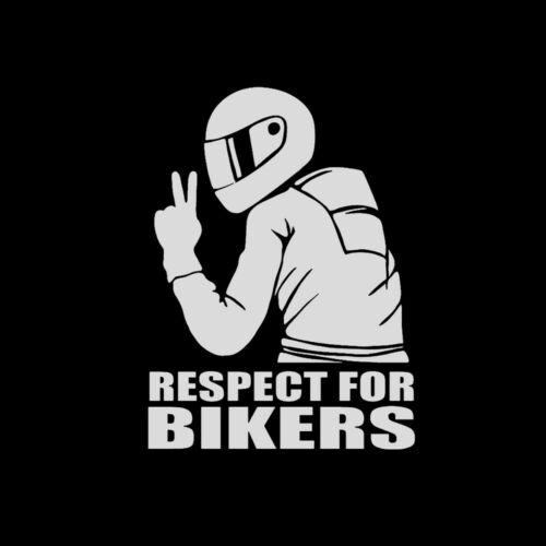 1Pc Respect for Bikers PET Sticker Car Vinyl Decal Funny Motorcycle Waterproof