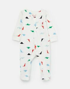 Joules 207284 Printed Babygrow in BLUE DINO
