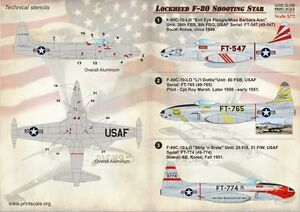 PRINT SCALE 1/72 Lockheed F-80C Estrella Fugaz #72168