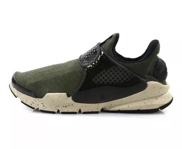 Nike Sock Dart Men's Cargo Khaki SZ 12 Cargo Khaki/Black-Rattan 819686-300