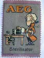 AEG Reklamemarke für  Sterilisator Künstlerentwurf Mann in Barockkleidung