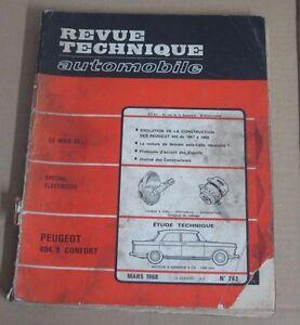 2019 Nouveau Style Revue Technique Rta 263 Peugeot 404/8 Confort Moteur à Essence 8 Cv -1468 Cm3