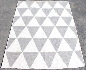 Large Indian West Elm Pyramid Jute Rug Carpet 317.4 x 250.1 cm Fenwicks