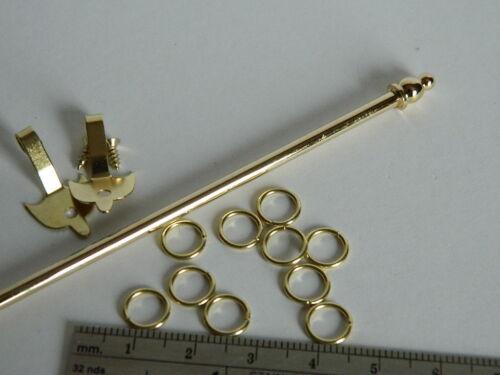 A14 Color Oro Metal Casa de Muñecas en expansión kit de riel de cortina