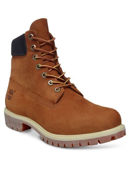 9e87adc4c4 Timberland Icon 6 inch Premium Boots Waterproof Nubuck Leather Shoe Rust  Orange