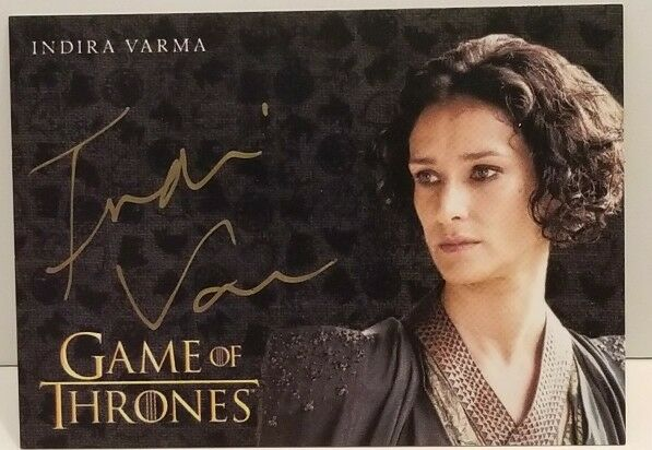2017 Game of Thrones Gold Autograph Indira Varma As ...