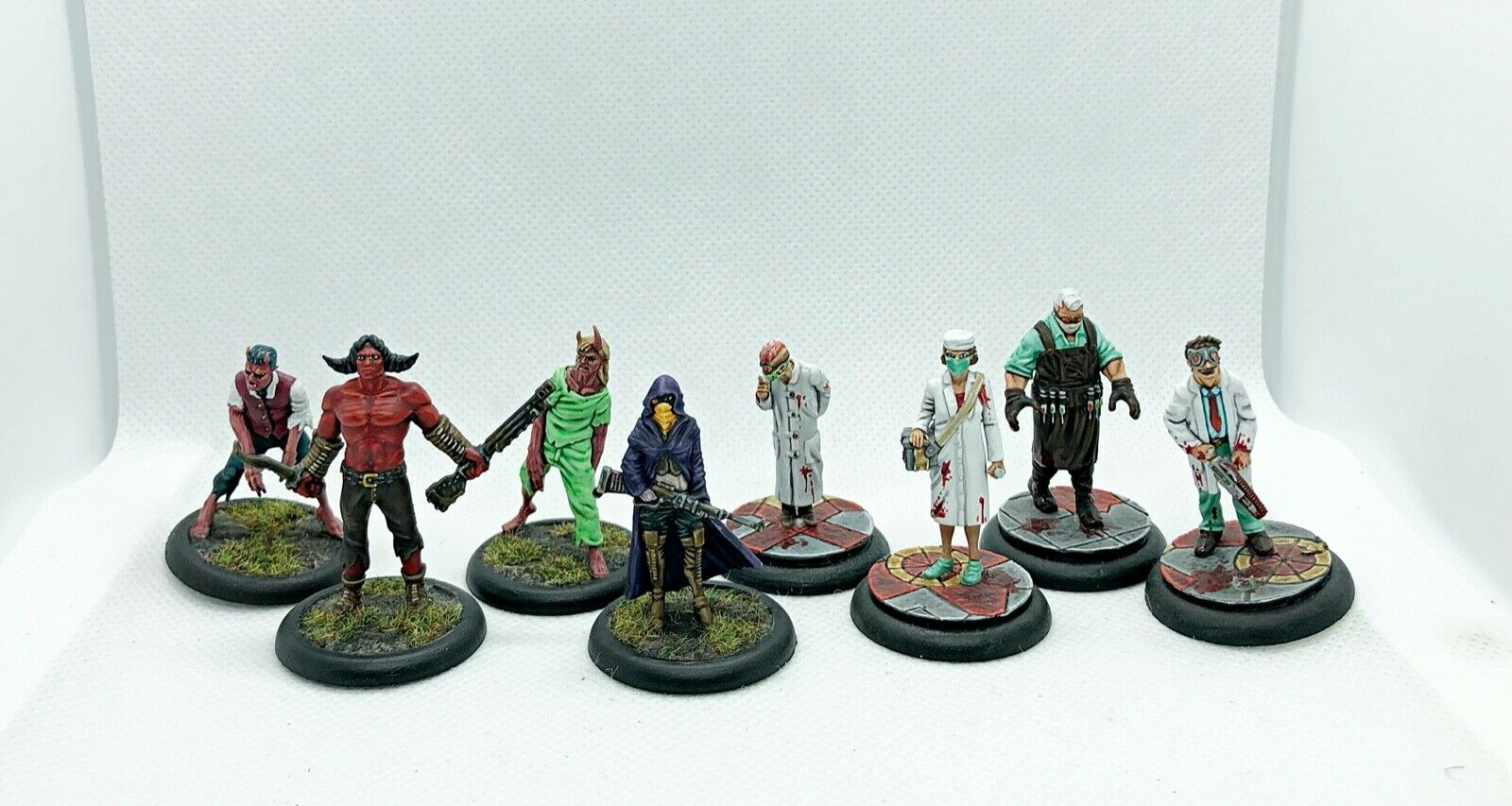Wyrd Malifaux Guild Neverborn Starter set miniatures, well painted based magnets