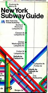 Nyc Subway Map And Guide.Details About New York City Subway Map Guide 1974 Visitors Edition 4169