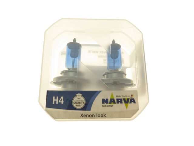 NARVA 4500K Range Power H4 12V 60W High 55W low beam 98512 White Light Bulb AU_3