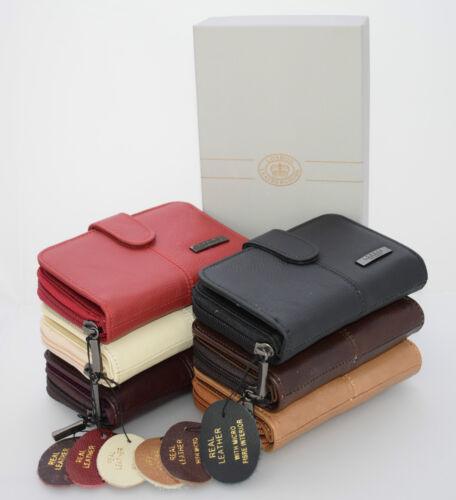 Ladies Lorenz Leather Purse Wallet Zip Around Photo Space Card Holder Gift Box*