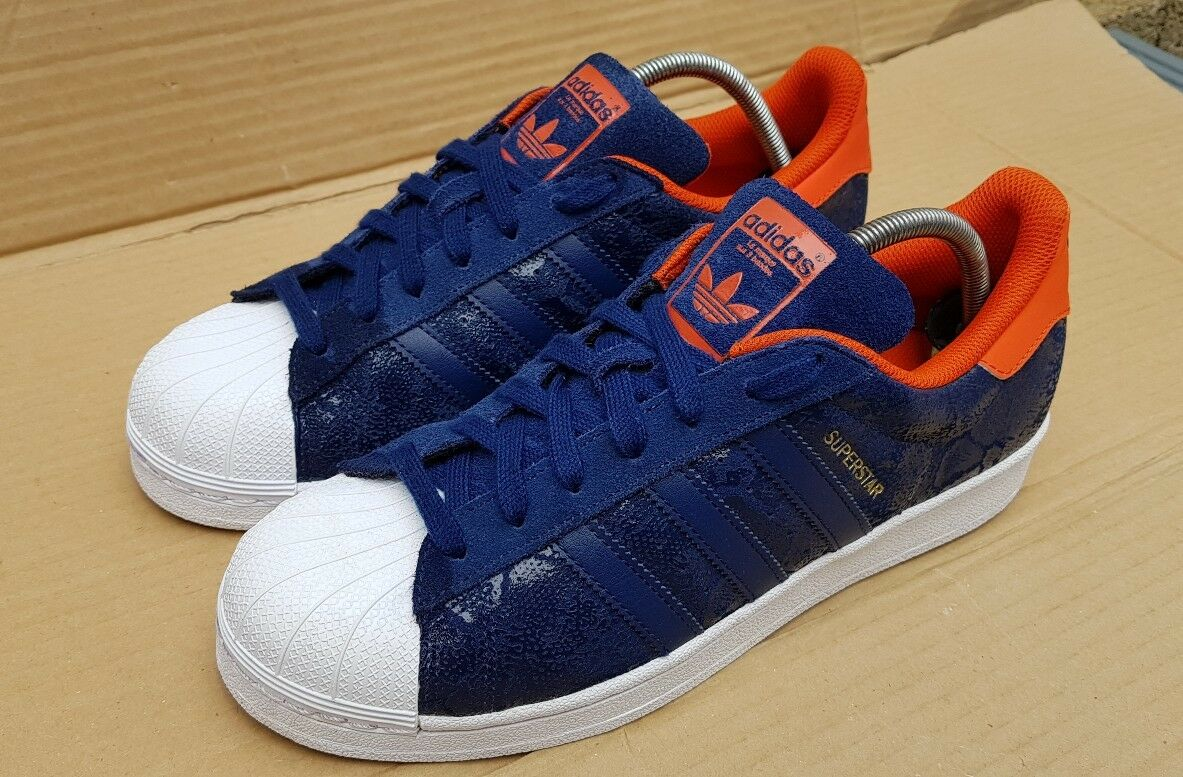 ADIDAS SUPERSTAR SNAKE TRAINERS AMS Blau SNAKE SUPERSTAR IN SIZE 7 UK EXCELLENT CONDITION 26d911