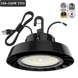 240W 200W 150 Watts UFO LED Light High Bay 5000K Warehouse Industrial Lighting