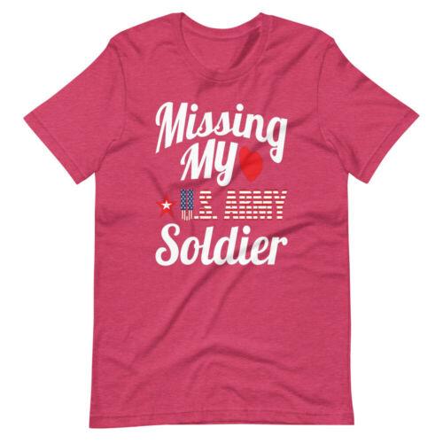 US Army Girlfriend t shirt Missing My U.S Army Soldier Military Women tshirt