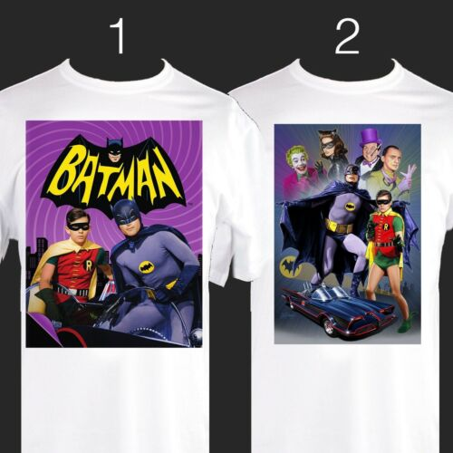 print TShirt 1960s 1950s BATMAN Tshirt original TV series S M L XL 2XL 3XL