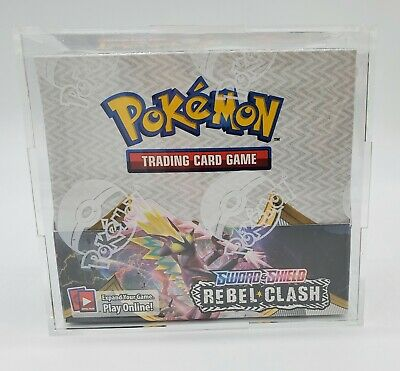 Clear acrylic//Plexiglass case for 4 Pokemon Booster Pack UV RESISTANT ovp mint