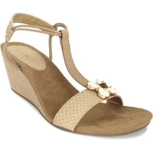 Lindsay-Phillips-Megan-Tan-Snakeskin-T-Strap-Wedge-Size-11