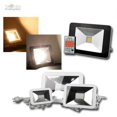 Hoflicht Fluter Wandleuchte Außenlampe LED Scheinwerfer SLIM weiß Außenleuchte