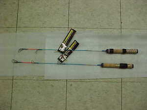2 new ht ice fishing rods ice blue pro 26 medium action for Ht ice fishing
