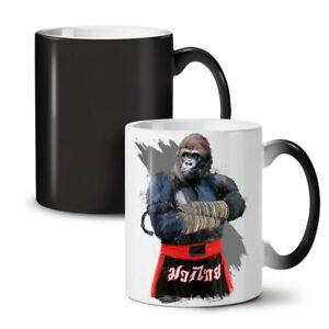 Monkey Fighter Box NEW Colour Changing Tea Coffee Mug 11 oz   Wellcoda