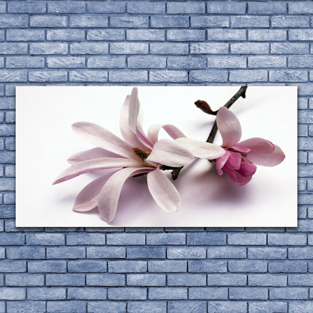 Glass print Wall art 140x70 Image Image Image Picture Flowers Floral 4bf102