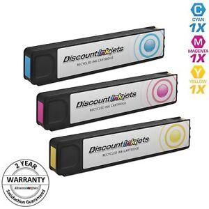 2pk Reman HP CN625AM  970XL Blk OfficeJet Pro X451dn X476dn X476dw X551dw X576dw
