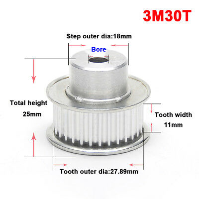 Qty1 XL15T Timing Belt Pulley Gear Wheel 10mm Bore For 10mm Belt For 3D Printer