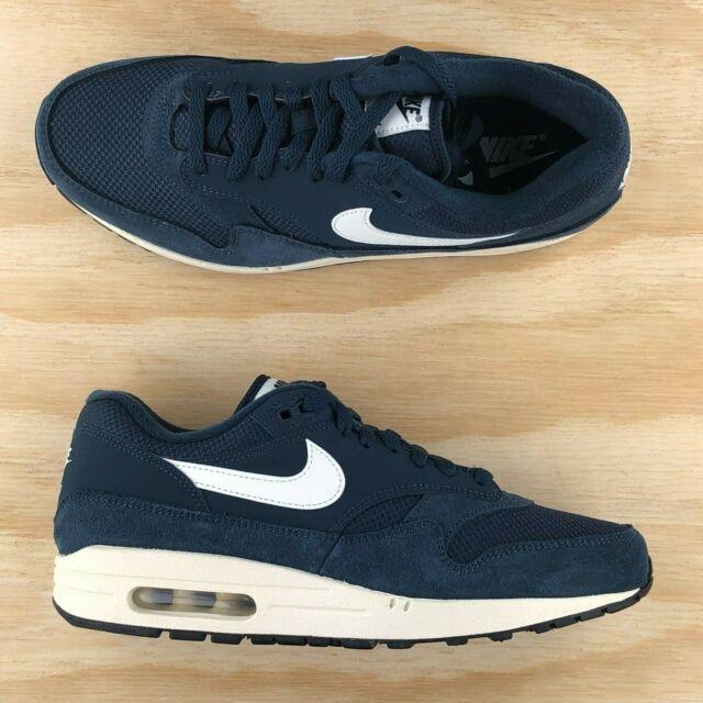78f34c8001a3a Nike Air Max 1 PRM Premium Blue White Mens Running Shoes [AH8145-401] Multi  Size