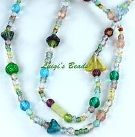 Czech Strung Pressed Glass Beads Summer Of Love Mix