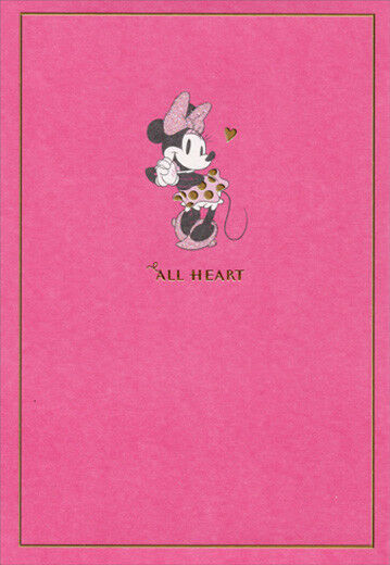 Hallmark Minnie Mouse All Heart Disney Family Birthday Card For Her