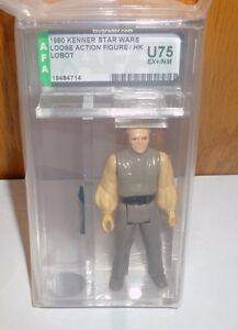 Figurine d'action Lobot Star Wars 1980 Afa non circulée 75 ex / nm