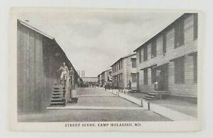 Postcard-Street-Scene-Camp-Holabird-Maryland-US-Army-Post-Near-Colgate-Creek