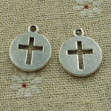 free ship 60 pieces Antique silver cross charms 17x15mm #3578