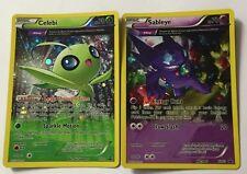 Pokemon Celebi XY93 and Sableye XY92 Full Art Promo Holo